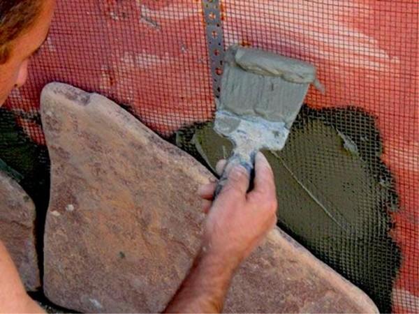 облицовка природным камнем своими руками фото