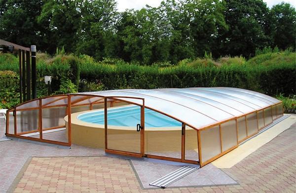 павильон для бассейна из поликарбоната фото