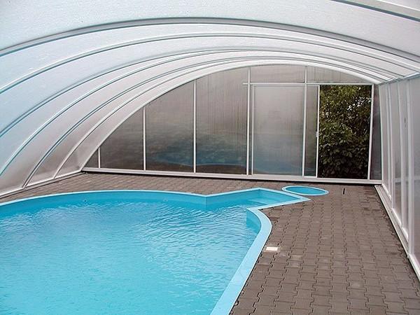 стационарный павильон для бассейна