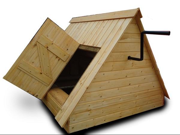размеры домика для колодца