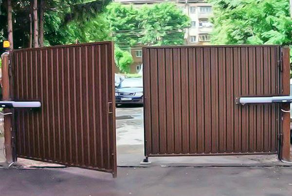 автоматические распашные ворота своими руками фото
