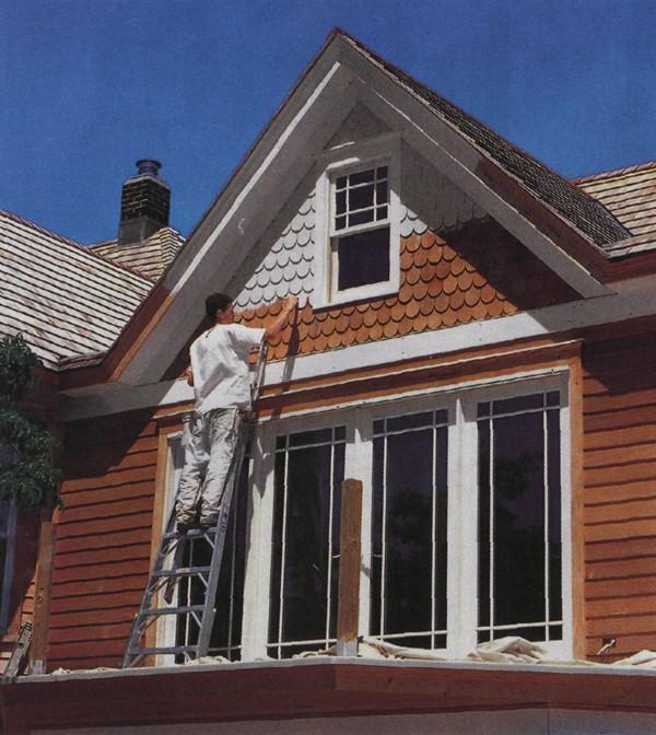 фасадная краска по дереву фото