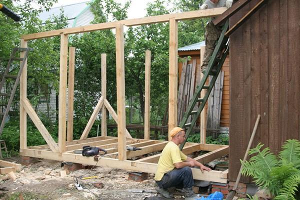 пристройка комнаты к деревянному дому фото