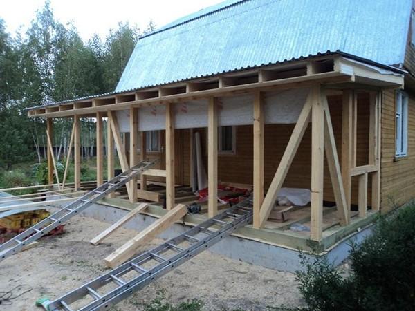 как сделать пристройку к деревянному дому фото