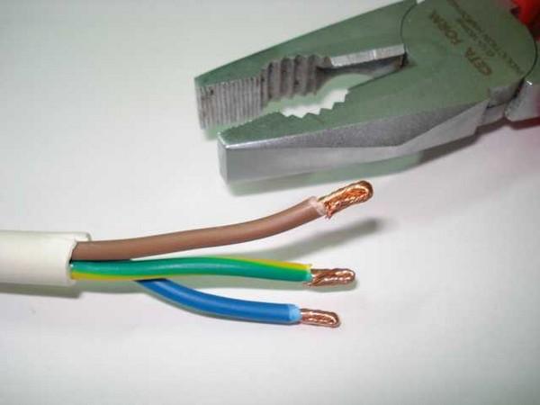 подготовка провода для переноски фото