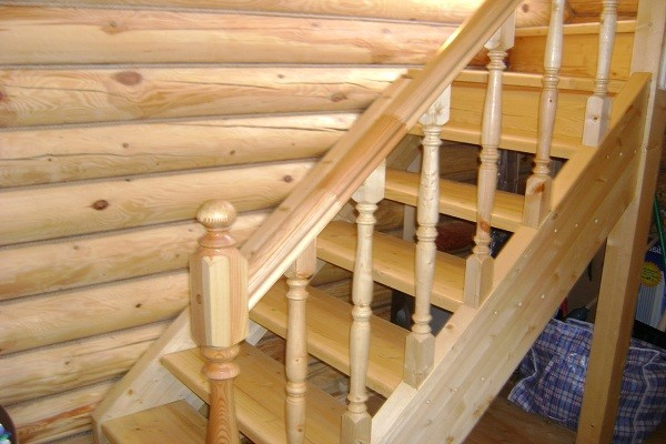 деревянная лестница своими руками фото