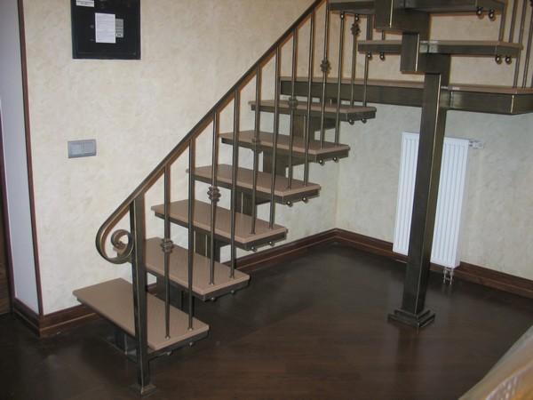 металлические перила для лестниц фото