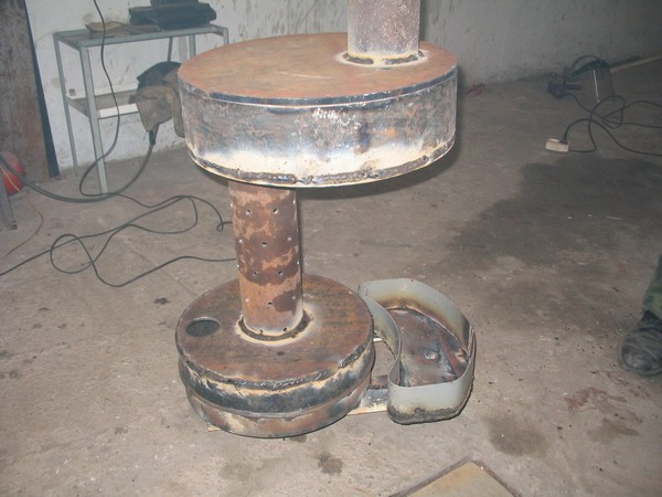 обогреватель для гаража на отработке фото