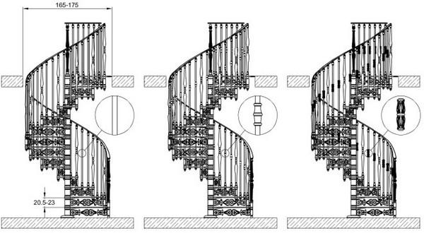 размеры винтовой лестницы фото