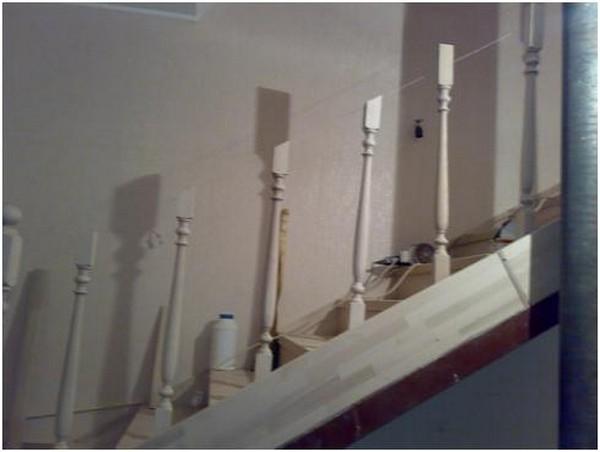 сборка деревянной лестницы фото