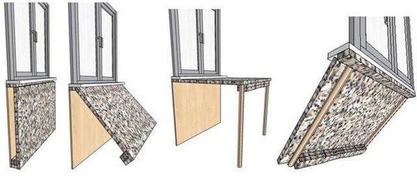 стол вместо подоконника фото