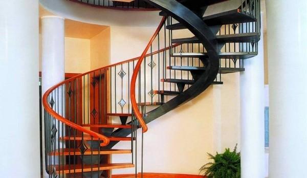 винтовая лестница на второй этаж фото