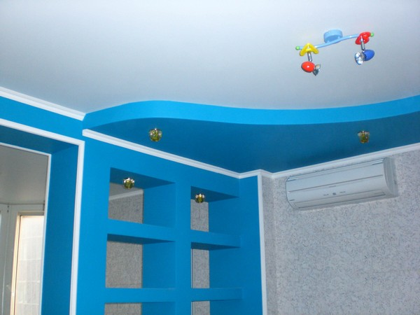 гипсокартонный потолок в детской фото