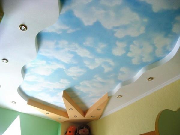 оформление потолка в детской фото