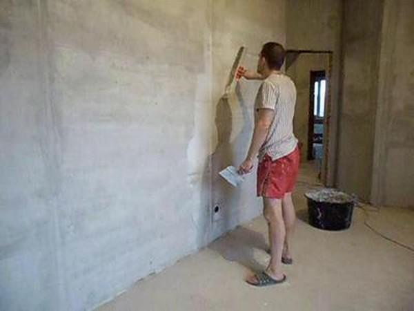 оклейка стен стеклообоями шпаклевка фото