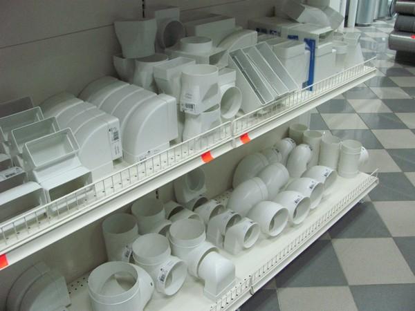 вентиляционный короб пластиковый прямоугольный фото