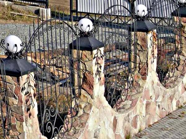 забор из натурального камня фото