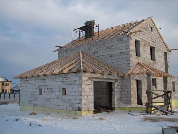 дом из шлакоблока своими руками фото
