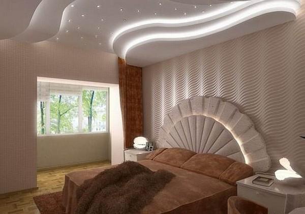 освещение в спальне над кроватью фото