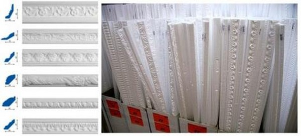 багеты потолочные полиуретановые фото