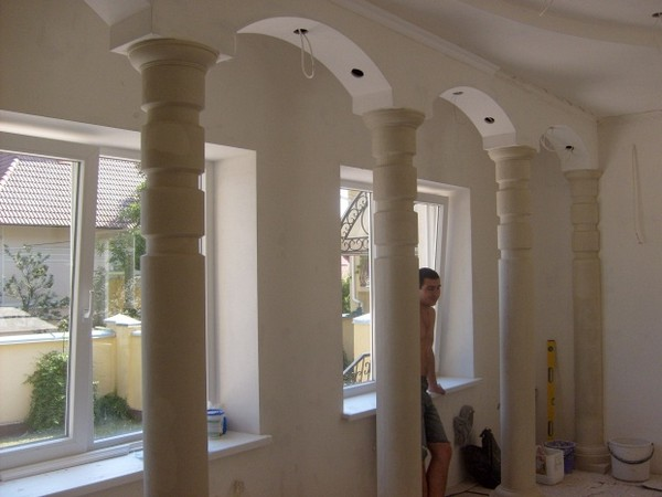 колонны из полиуретана своими руками фото