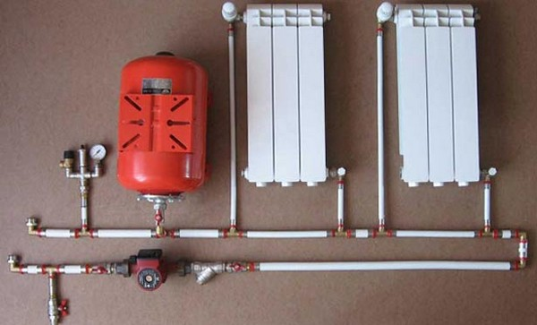 двухтрубная система отопления с принудительной циркуляцией фото