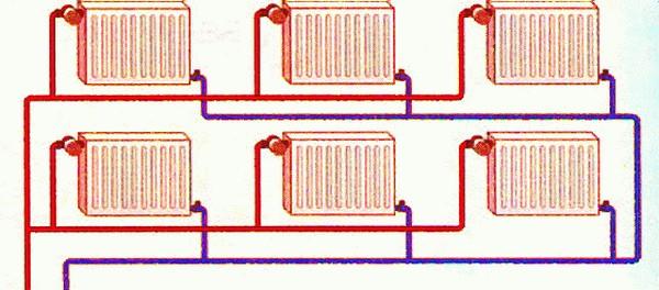 двухтрубная система отопления фото