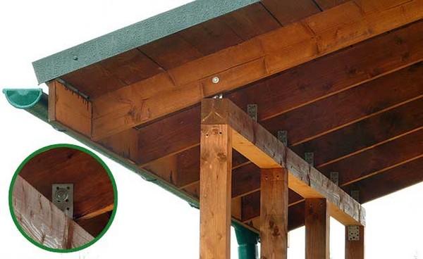 Навес в деревянном доме фото