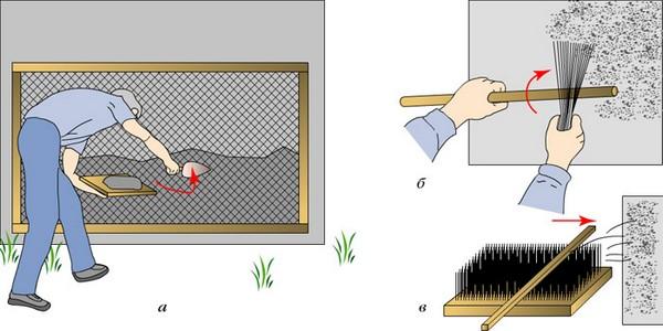 Как сделать штукатурку шубу