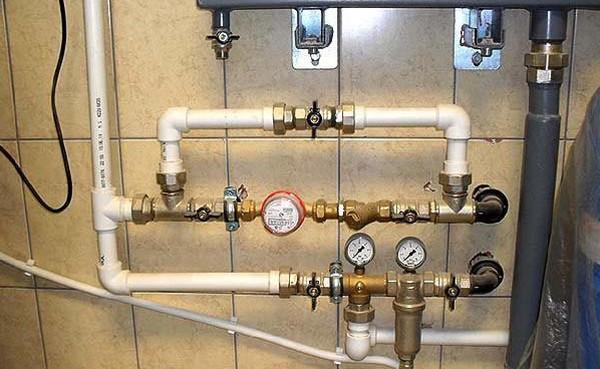 байпас в системе водоснабжения фото