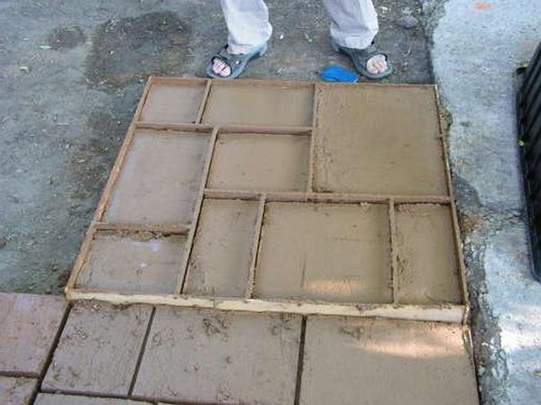 Как сделать формы для тротуарной плитки своими