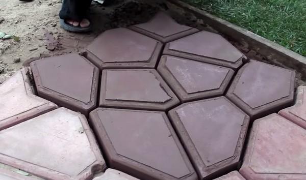 формы для тротуарной плитки своими руками фото