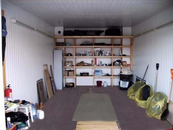 обустройство железного гаража внутри своими руками фото