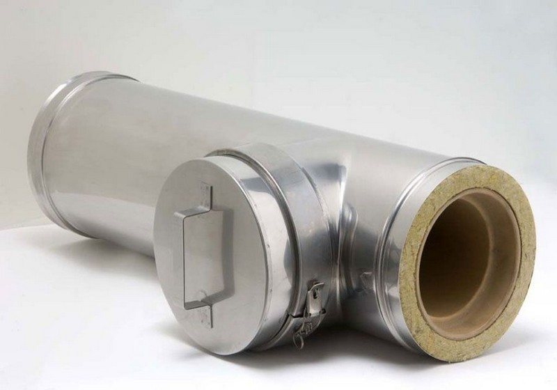 дымоходы из нержавеющей стали для твердотопливных котлов фото