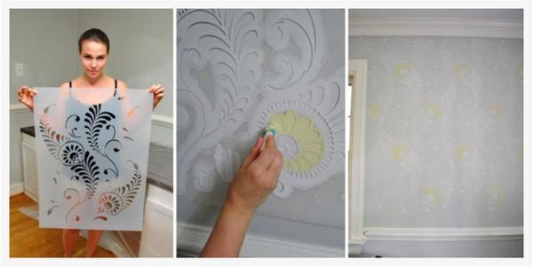 фактурная краска для стен своими руками фото