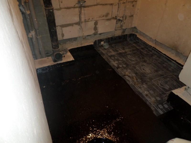 гидроизоляция бетонного пола фото