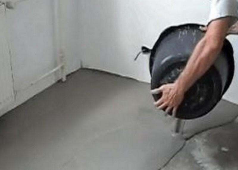 выравнивание бетонного пола своими руками фото