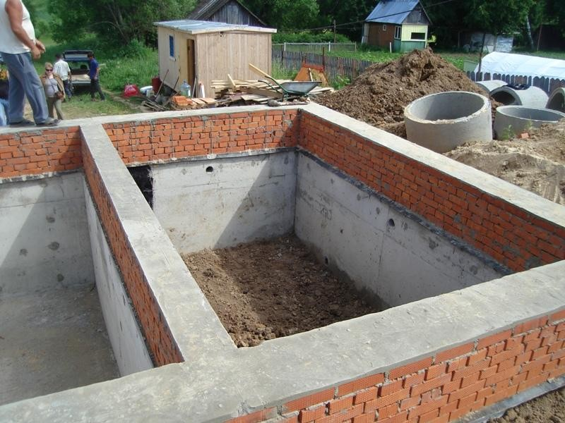 фундамент для дома из кирпича фото