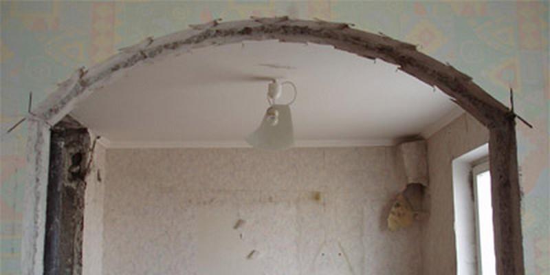 отделка дверных проемов аркой фото