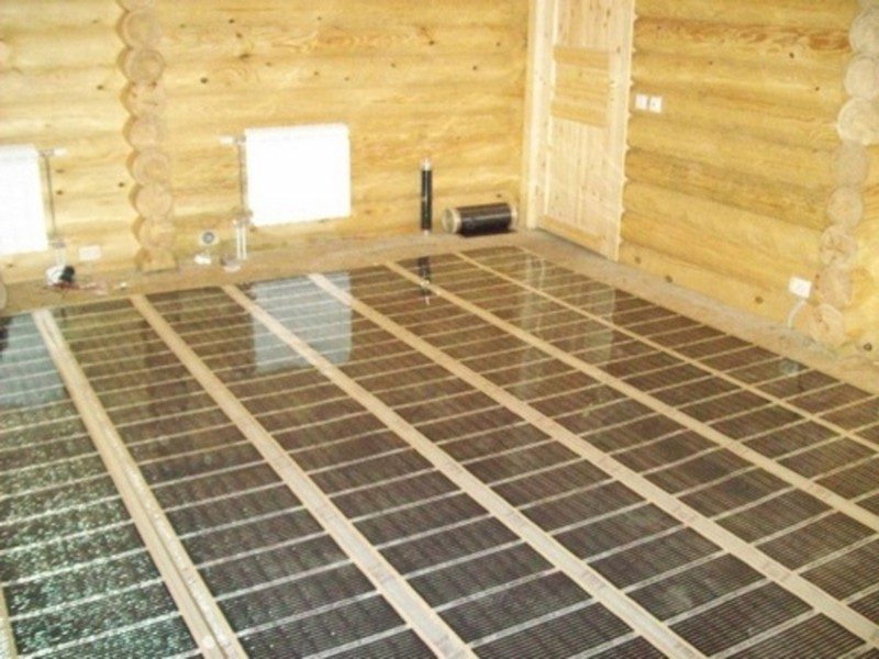 теплые полы в деревянном доме фото