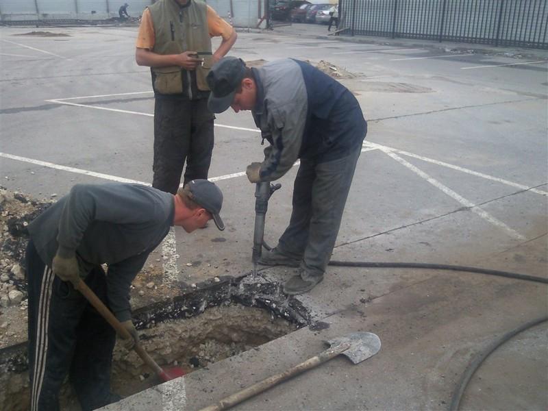 демонтаж бетонных полов фото
