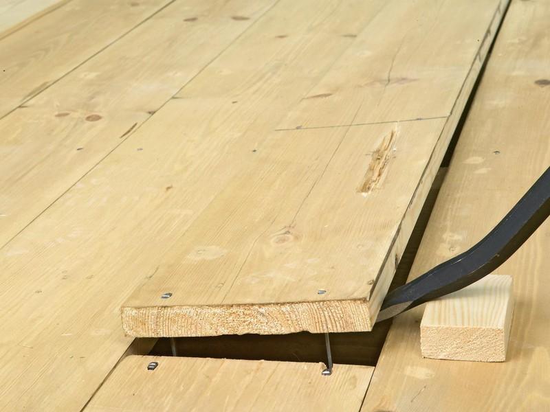 демонтаж деревянных полов фото