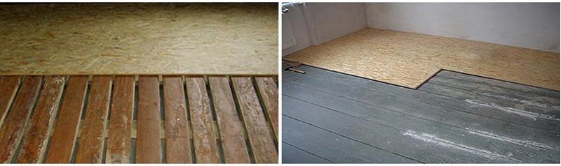 технология укладки керамической плитки на деревянный пол фото