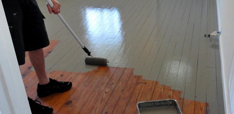 быстросохнущая краска для деревянного пола фото