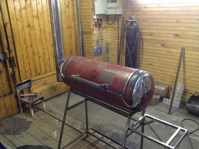 Мангал барбекю из газового баллона с фото