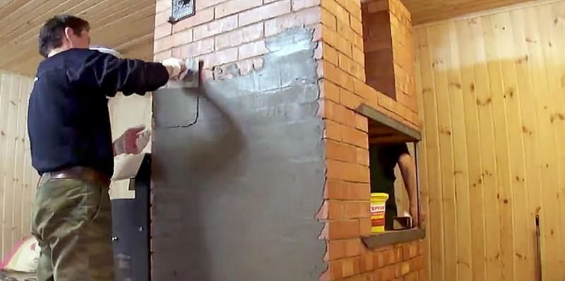 Как штукатурить кирпичные стены своими руками