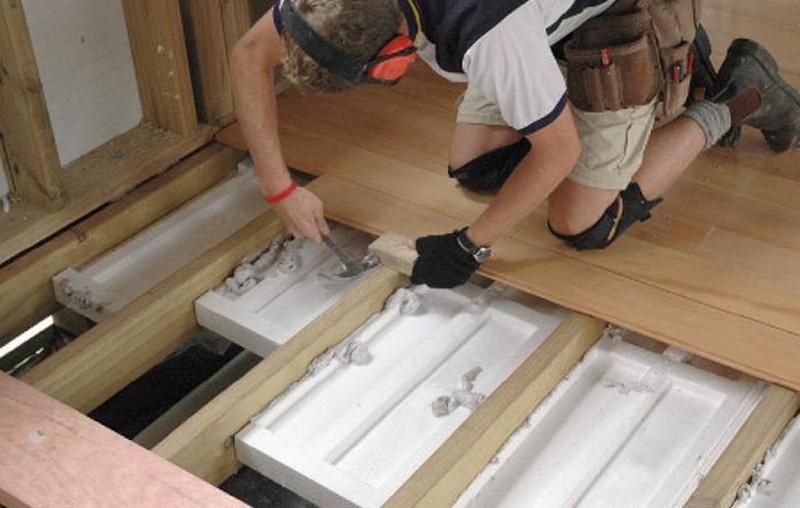 утепление пола на балконе пенопластом фото