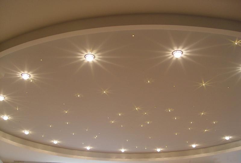 Точечные светильники для гипсокартонных потолков: разновидности и особенности подключения
