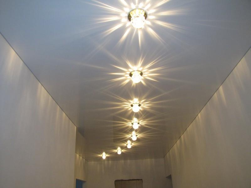 светодиодные точечные светильники для гипсокартонных потолков фото