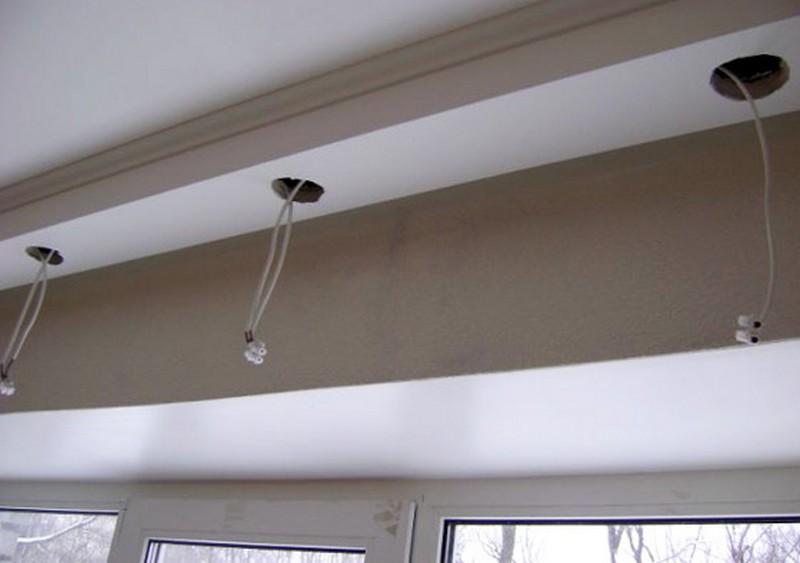 точечные светильники для гипсокартонных потолков размеры фото